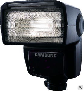 Samsung's SEF-36PZF flash strobe. Courtesy of Samsung, with modifications by Michael R. Tomkins. Click for a bigger picture!