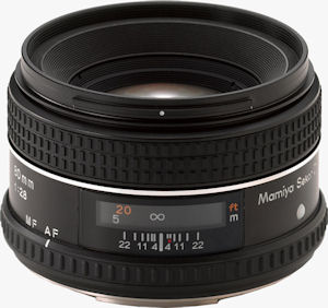 Mamiya's Sekor AF 80mm F/2.8  D L/S lens. Courtesy of Mamiya, with modifications by Michael R. Tomkins. Click for a bigger picture!