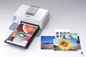 Canon's SELPHY CP510 printer. Courtesy of Canon, with modifications by Michael R. Tomkins. Click for a bigger picture!