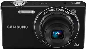 Samsung's SH100 digital camera. Photo provided by Samsung Electronics Co. Ltd. Click for a bigger picture!