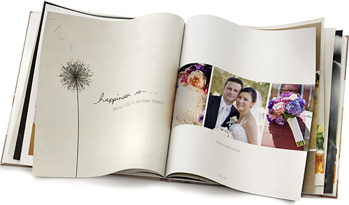 An example of Shutterfly's 'Happiness Is' photo book style. Photo provided by Shutterfly Inc. Click for a bigger picture!