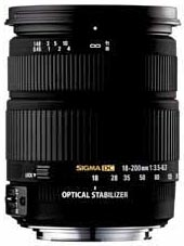 Sigma 18-200mm F3.5-6.3 DC OS. Courtesy of Sigma Corporation, with modifications by Zig Weidelich.
