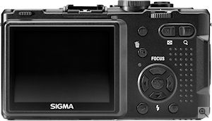 Sigma's DP1 digital camera. Courtesy of Sigma, with modifications by Michael R. Tomkins. Click for a bigger picture!