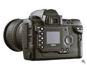 Sigma's SD9 digital camera. Courtesy of Sigma Corporation, with modifications by Michael R. Tomkins. Click for a bigger picture!