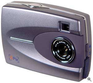 SiPix's StyleCam digital camera. Courtesy of SiPix Inc. with modifications by Michael R. Tomkins. All rights reserved. Click for a bigger picture!