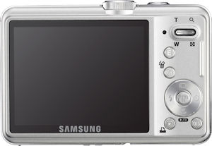 Samsung's SL310W digital camera. Courtesy of Samsung, with modifications by Michael R. Tomkins. Click for a bigger picture!