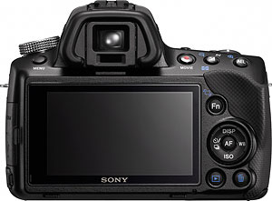 Sony's Alpha SLT-A35 translucent mirror camera. Photo provided by Sony Electronics Inc. Click for a bigger picture!
