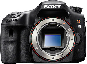 Sony's Alpha SLT-A65 Translucent Mirror camera. Image provided by Sony Electronics Inc. Click for a bigger picture!