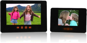 Smartparts' SP24PC and SP35PC digital picture frames. Photo provided by Smartparts Inc. Click for a bigger picture!