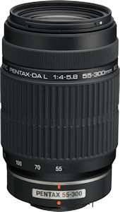 Pentax's smc PENTAX-DA L 55-300mm F4-5.8 ED lens. Photo provided by Pentax Imaging Co. Click for a bigger picture!