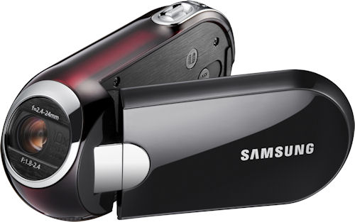 Samsung SMX-C14 digital camcorder. Photo provided by Samsung Electronics America Inc. Click for a bigger picture!