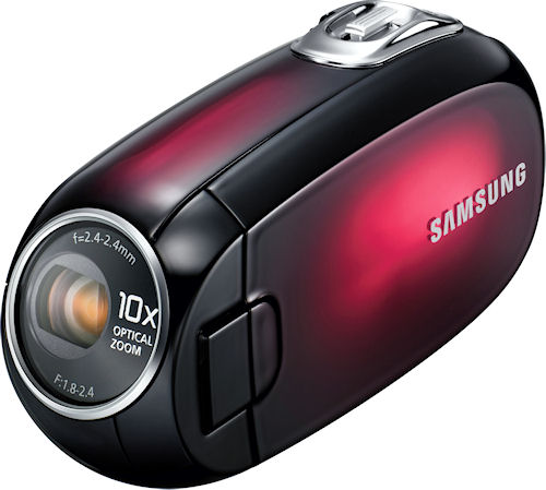 Samsung's SMX-C20 digital camcorder. Photo provided by Samsung Electronics America Inc. Click for a bigger picture!