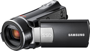 Samsung's SMX-K45 standard-definition camcorder. Photo provided by Samsung Electronics Co. Ltd. Click for a bigger picture!