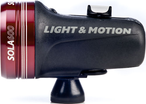 Side view of the Sola 600 compact imaging light. Photo provided by Light & Motion. Click for a bigger picture!