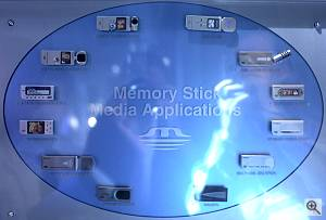 Sony's display showing 'Memory Stick Media Applications'. Courtesy of Juergen Specht - click for a bigger picture!