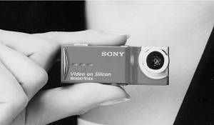 Sony's unnamed MemoryStick Duo-based prototype camera - click for a bigger picture!