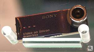 Sony's unnamed prototype digital still camera with LCD display and 'Memory Stick Duo' storage. Courtesy of Juergen Specht - click for a bigger picture!