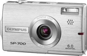 Olympus' SP-700 digital camera. Courtesy of Olympus, with modifications by Michael R. Tomkins. Click for a bigger picture!