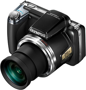 Olympus' SP-810UZ digital camera. Photo provided by Olympus Europa Holding GmbH. Click for a bigger picture!