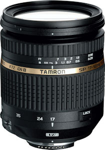Tamron's SP AF17-50mm F/2.8 XR Di II VC LD Aspherical [IF] lens. Photo provided by Tamron USA Inc. Click for a bigger picture!