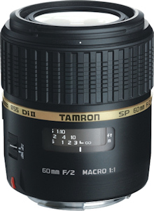 Tamron's SP AF60mm F/2.0 Di II LD (IF) MACRO 1:1 lens. Photo provided by Tamron Co. Ltd. Click for a bigger picture!