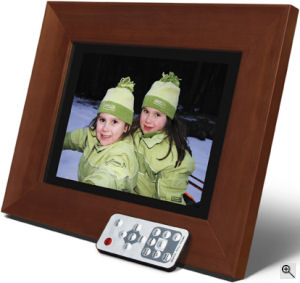 Smartparts' SPDPF84M digital picture frame. Courtesy of Smartparts Inc., with modifications by Michael R. Tomkins. Click for a bigger picture!