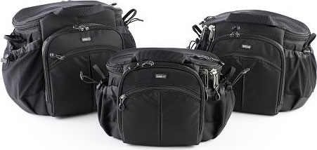 Think Tank Photo's Speed Demon V2.0, Speed Freak V2.0, and Speed Racer V2.0 shoulder bags. Photo provided by Think Tank Photo LLC. Click for a bigger picture!