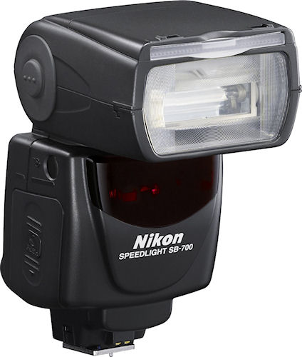 Nikon's Speedlight SB-700 flash strobe. Photo provided by Nikon Inc. Click for a bigger picture!