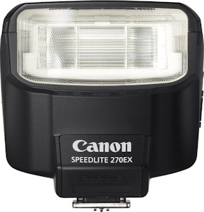 Canon's Speedlite 270EX flash strobe. Photo provided by Canon USA Inc. Click for a bigger picture!
