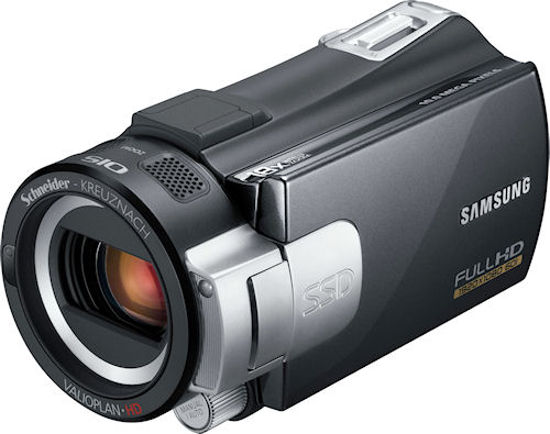 Samsung's S-Series digital camcorders. Photo provided by Samsung Electronics America Inc. Click for a bigger picture!