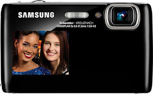 Samsung's DualView ST100 digital camera. Photo provided by Samsung Electronics Co. Ltd. Click for a bigger picture!