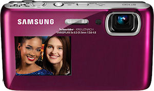 Samsung's DualView ST100 digital camera. Photo provided by Samsung Electronics Co. Ltd