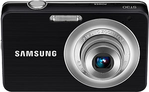 Samsung's ST30 digital camera. Photo provided by Samsung Electronics Co. Ltd. Click for a bigger picture!