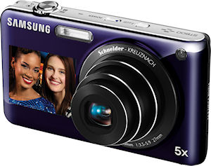 Samsung's DualView ST600 digital camera. Photo provided by Samsung Electronics Co. Ltd. Click for a bigger picture!