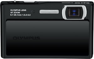 Olympus' Stylus 1040 digital camera. Courtesy of Olympus, with modifications by Michael R. Tomkins. Click for a bigger picture!
