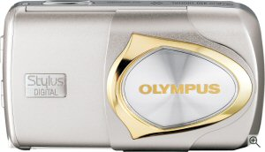 Olympus' Stylus 410 digital camera. Courtesy of Olympus, with modifications by Michael R. Tomkins. Click for a bigger picture!