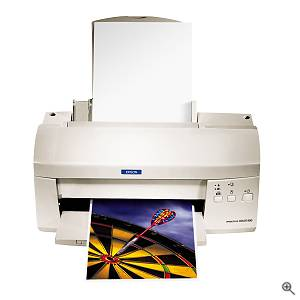 Epson's Stylus Color 980 printer, front view. Courtesy of Epson America Inc. - click for a bigger picture!