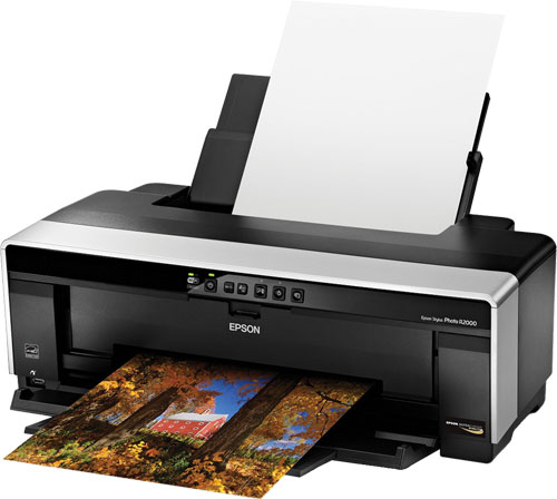 The Epson Stylus Photo R2000 13-inch photo printer. Photo provided by Epson America Inc. Click for a bigger picture!