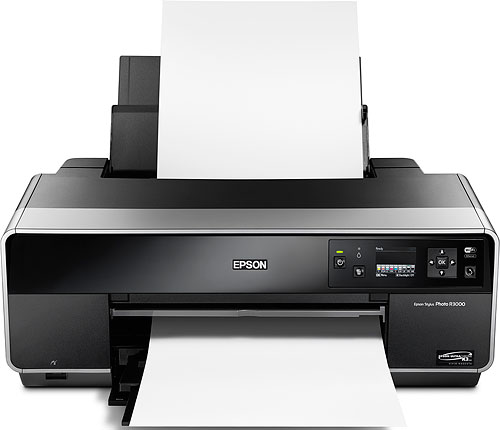 Epson's Stylus Photo R3000 printer. Photo provided by Epson America Inc. Click for a bigger picture!
