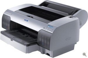Epson's Stylus Pro 4000 printer. Courtesy of Sony, with modifications by Michael R. Tomkins. Click for a bigger picture!