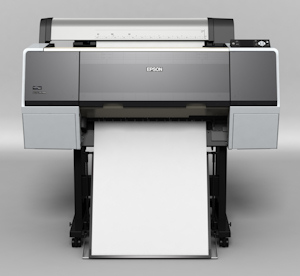 Epson's Stylus Pro 7900 printer. Courtesy of Epson, with modifications by Michael R. Tomkins. Click for a bigger picture!
