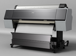 Epson's Stylus Pro 9900 printer. Courtesy of Epson, with modifications by Michael R. Tomkins. Click for a bigger picture!
