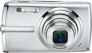 Olympus' Stylus 1010 digital camera. Courtesy of Olympus, with modifications by Michael R. Tomkins. Click for a bigger picture!