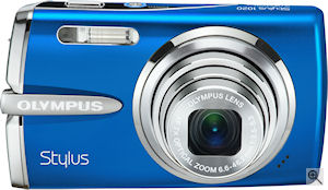 Olympus' Stylus 1020 digital camera. Courtesy of Olympus, with modifications by Michael R. Tomkins. Click for a bigger picture!