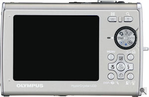 Olympus' Stylus 1030 SW digital camera. Courtesy of Olympus, with modifications by Michael R. Tomkins. Click for a bigger picture!