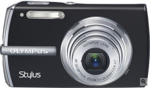 Olympus' Stylus 1200 digital camera. Courtesy of Olympus, with modifications by Michael R. Tomkins. Click for a bigger picture!