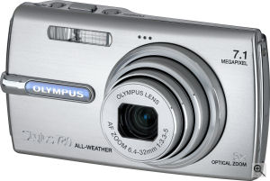 Olympus' Stylus 780 digital camera. Courtesy of Olympus, with modifications by Michael R. Tomkins. Click for a bigger picture!