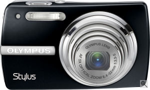 Olympus' Stylus 820 digital camera. Courtesy of Olympus, with modifications by Michael R. Tomkins. Click for a bigger picture!