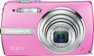 Olympus' Stylus 840 digital camera. Courtesy of Olympus, with modifications by Michael R. Tomkins. Click for a bigger picture!