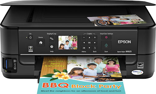Epson Stylus NX625 all-in-one. Photo provided by Epson America Inc. Click for a bigger picture!